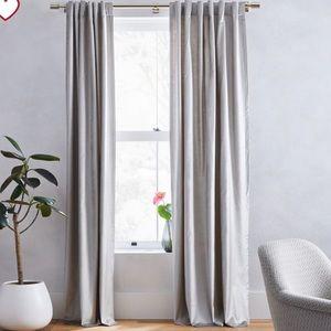 2 sets of West Elm Velvet Curtains in Platinum